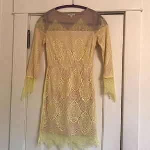Charlotte Russe Lace Over Nude Dress size S